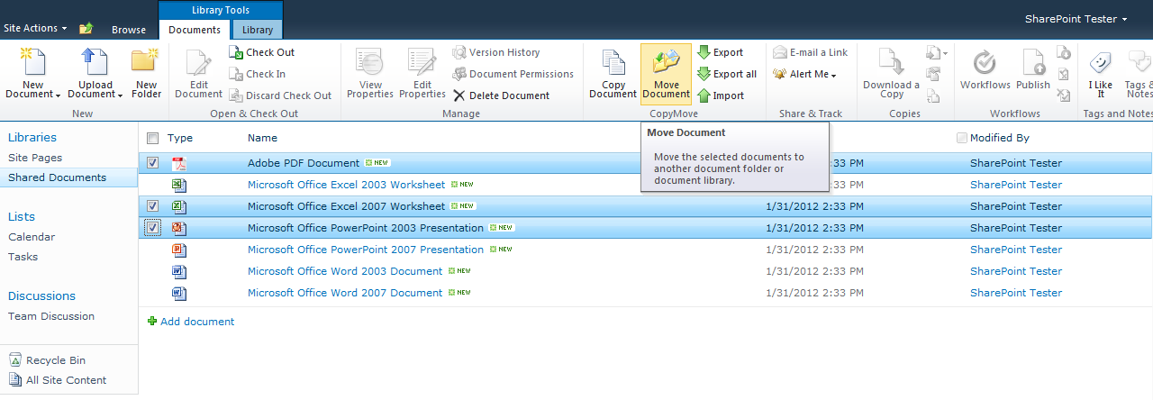 CopyMove for SharePoint 2010